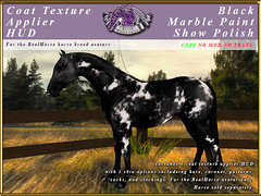 E-RH-SkinApplierHUD-MArble-BlackShowpolish (honeyheart1) Tags: horse skin coat pelt realhorse applier sl secondlife eliteequestrian