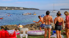 Australia Day 2018 - Fairlight (3) (geemuses) Tags: australiaday2018 invasionday manly nsw newsouthwales australia party celebrations water people candid street sea ocean sydneyharbour girls women men bikini swimsuit po passengership cruiseliner landscape scenic scenery light beautifullight color colour colours fairlightbeach