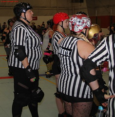 IMG_8090 crop 1 (KORfan) Tags: rollerderby barbedwirebetties cabinfeverscrimmage referees officials