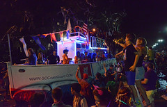 U.S. Coast Guard (BKHagar *Kim*) Tags: bkhagar mardigras neworleans nola celebration carnival party people crowd outdoor beads throws orpheus krewe floats night street napoleon uptown