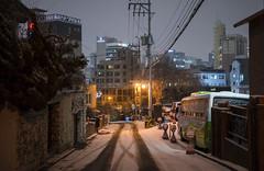 our turn 7 (matteroffactSH) Tags: seoul korea south southkorea gangnam district asia winter 2018 urban cityscape architecture future futuristic dense density skyline buildings alley nikon d800 d800e andrew rochfort andrewrochcfort matteroffact hills snow snowy cold freezing storm