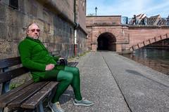 Another one in (fake) green (karlheinz klingbeil) Tags: man mann manninstrumpfhose menintights tights collant mode fashion green grün