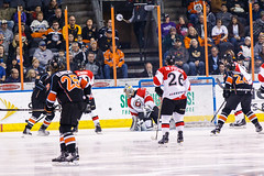 "Kansas City Mavericks vs. Cincinnati Cyclones, February 3, 2018, Silverstein Eye Centers Arena, Independence, Missouri.  Photo: © John Howe / Howe Creative Photography, all rights reserved 2018. • <a style=""font-size:0.8em;"" href=""http://www.flickr.com/photos/134016632@N02/40086501502/"" target=""_blank"">View on Flickr</a>"