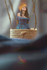 CREATIVE (Kathy Chareun) Tags: reto challenge ps photoshop lr lightroom dress vestido hair pelo azul blue blau c creative creativo art arte yellow amarillo woman mujer femme surreal surrealismom surrealismo surrealistic surrealista explosion rosiehardychallenge