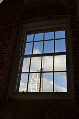 window view (curly_em) Tags: portsmouth hampshire gunwharfquays aspexartgallery spinnakertower clouds bluesky blue