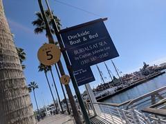 Boat, Breakfast and Burial at Sea, Long Beach, California, USA (gruntzooki) Tags: sign signs california cali longbeach losangeles la ca nautical bb burialatsea cremation