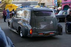 saturday drive in (bballchico) Tags: 1956 ford paneltruck custom kustom chopped leadsled grandnationalroadstershow carshow saturdaydrivein elvinscalise
