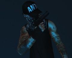 AIM (AW02) Tags: sl secondlife photography guns weapons fashion tattoo xenials