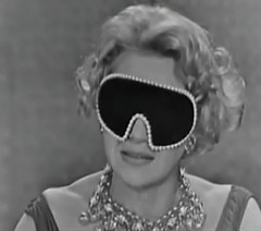 Masked Arlene Francis, What's My Line?, 1960 (classic_film) Tags: arlenefrancis tv television whatsmyline gameshow 1960 1960s sixties retro vintage entertainment actrice actress actriz schauspielerin beautiful beauty singer woman mujerbonita mujer hair hairstyle elegant style prettygirl pretty girl frau hübschesmädchen hübschefrau aktrice old nostalgic nostalgia classic clásico añejo ephemeral celebrity glamour fashion dress cinema cine film movie movies films época niñabonita schön necklace jewelry formalwear formal película lady jahrgang alt oll clothing ropa clothes wardrobe usa unitedstates hollywood blackandwhite america