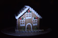 gingerbread house (Snapdragon Lincs) Tags: gingerbread christmas house icing food biscuit eat festive table top lighting sweet