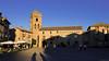 La Plaza Mayor un soir d'été - Aínsa. (Erminig Gwenn) Tags: aínsa aragón espagne es 1576 moon lune église aragon sunset coucherdesoleil