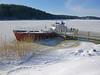 Frozen (JohntheFinn) Tags: piikkiö boat ice jää vene winter talvi ranta finland suomi europe shore
