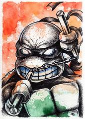 Michaelangelo (Bryan_Collins) Tags: bryan collins tmnt teenage mutant ninja turtles pop fan art drawing watercolor ink sharpie comics