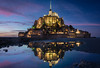 Reflections of Mont St Michel (terrencechuapengqui) Tags: night photography mont st michel france travel
