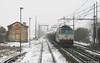 The Snow Tiger (Massimo Minervini) Tags: snow neve treno e652123 mir malagnino bahn fs trenitalia trenomerci tramogge silos grano ferrovia cremonamantova tigre tiger white rail railway railroads canon400d