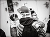 Gott.bleibt.God.stays (grizzleur) Tags: karneval olymplus omd olympusomdem10mkii omdstreetphotography bw mono monochrome blackandwhite street photography candid carneval kid child baby fetus hat blank stare god gott permanence stripes lines philosophy olylove candidphotography religion