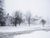 Nottingham Square (walter_g) Tags: sonya6000 sony1650mmlens rawtherapee53 gimp298 nikcolorefexpro snow fog cold