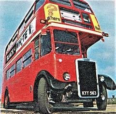 London transport RTL534  Aldenham works 1962. (Ledlon89) Tags: rtbus rt rtl aecregent leylandtitan londonbus londonbuses londontransport lt lte aldenhamworks overhaul london bus buses vintagebuses 1962