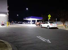 Sam's Club Pickup (by night) (l_dawg2000) Tags: 2017remodel apparel café desotocounty electronics food gasstation meats mississippi ms pharmacy photocenter remodel samsclub southaven tires walmart wholesaleclub unitedstates usa