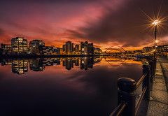 Newcastle Quayside (Bigalyankavich) Tags: quayside sunset newcastle le longexposure rivertyne reflection northeast gateshead sage baltic milleniumbridge tynebridge