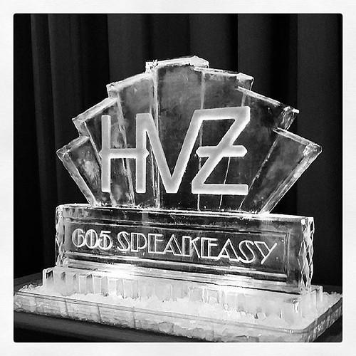 @hotelvanzandt celebrating tonight with a #speakeasy #party #fullspectrumice #thinkoutsidetheblocks #brrriliant - Full Spectrum Ice Sculpture
