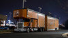 Peterbilt 389 (NoVa Transportation Photos) Tags: enclosed car carrier peterbilt 389 truck big rig 18 wheeler night reliable carriers