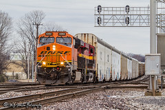 BNSF 4202 | GE ES44C4 | BNSF Thayer South Subdivision (M.J. Scanlon) Tags: bnsf4202 emd es44c4 automobile auto autorack cnjunction broadway bnsf bnsfrailway bnsfthayersouthsub burlingtonnorthernsantafe burlingtonnorthernsantaferailway memphis tennessee tree sky digital merchandise commerce business wow haul outdoor outdoors move mover moving scanlon mojo canon eos engine locomotive rail railroad railway train track horsepower logistics railfanning steel wheels photo photography photographer photograph capture picture trains railfan