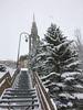 Escalier + Clocher (-Skifan-) Tags: clocher escalierjetay lesmenuires neige promenadecarrefour skifan 3vallées les3vallées