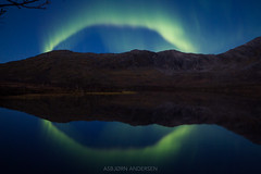 Read My Lips (Asbjørn Anders1) Tags: northernlights auroraborealis landsscape night lake sky water mountain landscape crazytuesday round