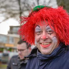 Dutch Carnival 2018 (RuudMorijn-NL) Tags: demay made noordbrabant bewolkt blauw blij carnaval carnavalsfeest clown clownesk feest feestelijk gemeentedrimmelen geposeerd haar jack kleurig kleurrijk lachend lol lucht man olijk ontspannen openlucht opgewekt plezier portret pose pret pruik rode rood straat straatcarnaval straatfeest straatportret traditie uitgedost verkleed winter makeup painted red wig blue carnival dutch netherlands smiling festive