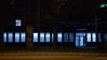 Blue (frankdorgathen) Tags: town urban city longtimeexposure night dark building finance money bank business electricity light blue window facade ruhrpott ruhrgebiet essen huyssenallee streetphotography street