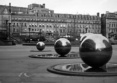 P52 Week 6 | Layering (Steph*Powell) Tags: monochrome steel sculpture sheffield peacegardens