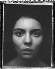 A. (denzzz) Tags: portrait polaroid polaroid55 negativescan blackwhite blackandwhite skancheli analogphotography instantfilm filmphotography wista45dx 4x5 largeformat expired walimex daylight1260