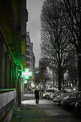 The streets of... Grenoble #43 (richardtostain) Tags: street rue night nuit black green noir vert sony a7ii pentax fa limited 43mm f19 grenoble