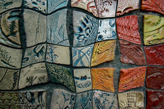 mosaic (mariola aga) Tags: chicago navypier park mosaic liquifyeffect closeup distortion tiles art