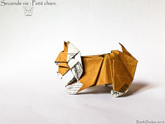 Seconde vie : Petit chien - Barth Dunkan. (Magic Fingaz) Tags: anjing barthdunkan chien chó dog gremlins hond hund köpek monster origami perro pies пас пес собака หมา 개 犬 狗