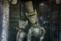 Friends Forever (Szydlak Szk) Tags: abandoned derelict forgotten old puppets mad hatter cat animals crazy decay decayed decaying defunct deteriorated desolate dead death detail destroyed decline fairytale freak freakshow forlorn fotografia szydlak szk sad sadness sadworld grotesque animal urbex urban urbanexploration photography doll toy eerie