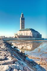 Casablanca (Rob McC) Tags: tower reflections landscape seascape sea coast architecture building morocco casablanca hasanii mosque