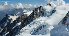 North-East of Mont Blanc (deletio) Tags: 2017 d700 mountains aisnikkor50mmf14 white glacier clouds snow montblanc saintgervaislesbains auvergnerhônealpes france fr aiguilledumidi