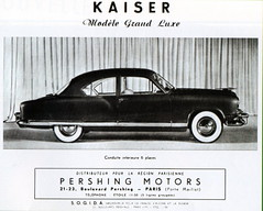 Kaiser Grand Luxe (1951) (andreboeni) Tags: classic car automobile cars automobiles voitures autos automobili classique voiture rétro retro auto oldtimer klassik classica classico publicity advert advertising advertisement kaiser frazer manhattan grandluxe pershing motors sogida