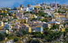 the colours of Simi (Blende1.8) Tags: aegeansea dodekanes dodecanese symi simi island insel ägäis griechenland greece colors colours vivid landscape buildings häuser farben farbenfroh bunt coloured farbig hang slope facades fassaden meer mittelmeer reise travel postcard architecture wohnhäuser windmühle windmühlen windmill summer sommer carstenheyer fuji fujifilm fujinon xe1 50230mm tele telephoto sky postkarte egeo
