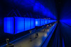 into the blue (ralfkai41) Tags: hafencity urban underground architecture urbandesign trainstation blau architektur ubahn bahnhof licht subway station hamburg