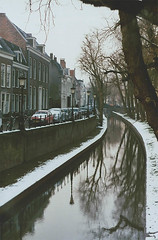 Utrecht | another reverie (another reverie) Tags: utrecht netherlands winter citytrip zenite agfa helios442 january analog film architecture dutch canal trees