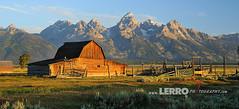 Grand Teton National Park Wyoming (Lerro Photography) Tags: grand teton national park wyoming barn field ranch farm mountain mountains tetons grandteton nationalpark