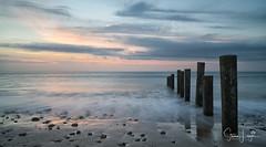 2017 - 12-28 - Landscape - Moana - Sunset 07.jpg (stevenlazar) Tags: pylons beach ocean sunset australia colour water moana waves jettyruins adelaide 2017 southaustralia clouds