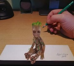Is That Real ? This Guy Got Skills ! (5RPWSV765D4BS2DD2SNW45MSS4) Tags: 3d art drawing omg