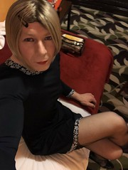 1st time dressed in three months, feels good! X (Sasskia1tranny) Tags: shemale makeup sexylegs leggy legs lipstick blondetranny pansy tgurls gurl mtf gaysissy sissy tranny minidress pantyhose tights