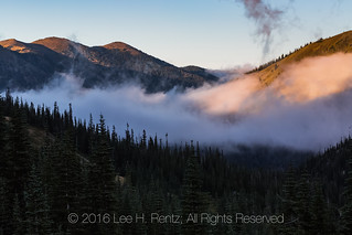 Low Clouds Hanging over Grand Valley in Olympic National Park