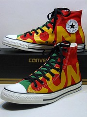 Wordmark - Enamel Red, Green, Yellow & Egret White Hi 159534F (hadley78) Tags: converse cons chucks collection ct chucktaylors chuck taylor taylors tops top thatconverseguy guinness worldrecord world record ripleys joshuamueller joshua mueller wordmark