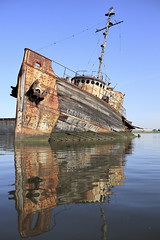 We Sail At The Break Of Day (95wombat) Tags: old abandoned rotted decayed derelict rusty decrepit marinegraveyard arthurkill statenisland newyork